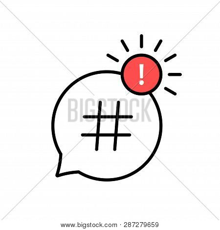 Hashtag Icon. Hashtag Symbol. Social Media Icon. Vector Illustration.