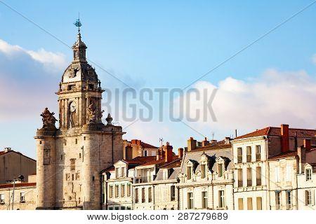 Close View Of Clocktower, La Rochelle, France