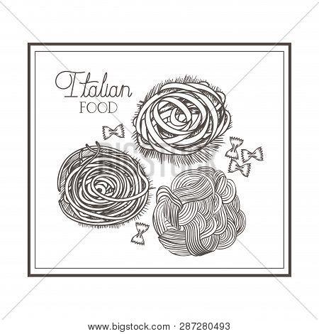 Delicious Italian Food In Drawing Vector Illustration Desing Vector Illustration Desing