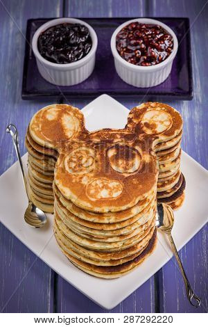 Pancakes For Children With A Mouse Shape