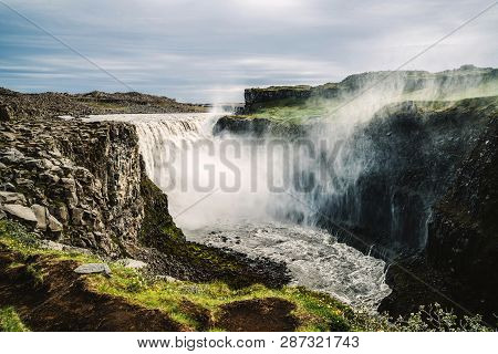 Dettifoss Waterfall In Northeast Iceland