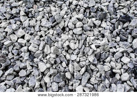 Texture Of Gravel Meterial In Construction Site