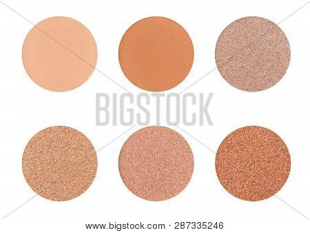 Eyeshadow Palette On A White Background -  Browns And Ochre