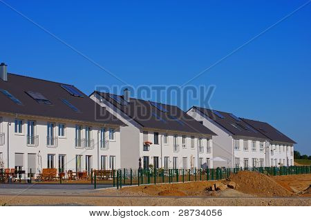 New terraced houses