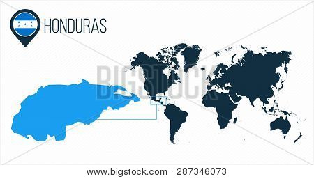 Honduras Map Located Vector & Photo (Free Trial)   Bigstock