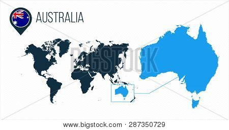 Australia Map Vector.Australia Map Located Vector Photo Free Trial Bigstock
