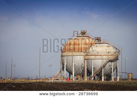 Tanks at the refinery