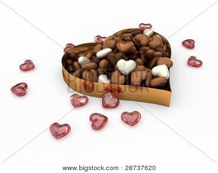 Heart Box Of Candy Chocolates