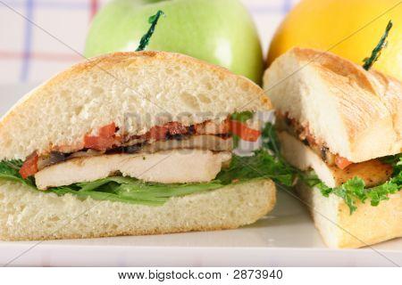 Halved Chicken Sandwich