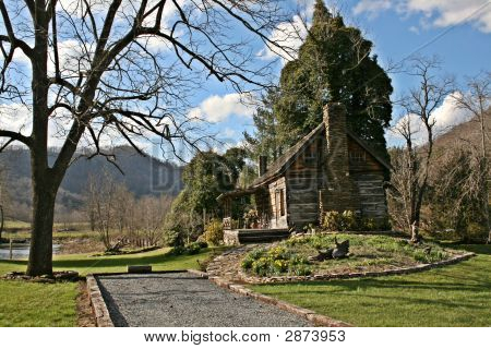 Log Cabin In The Mountains