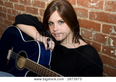 Gorgeous Girl With Guitar