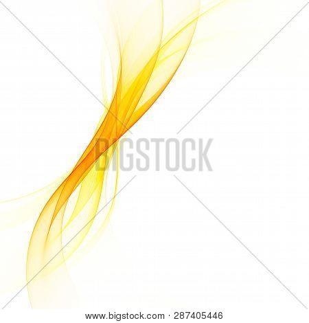 Abstract Vector Background, Color Flow Waved Lines For Brochure, Website, Flyer Design. Transparent