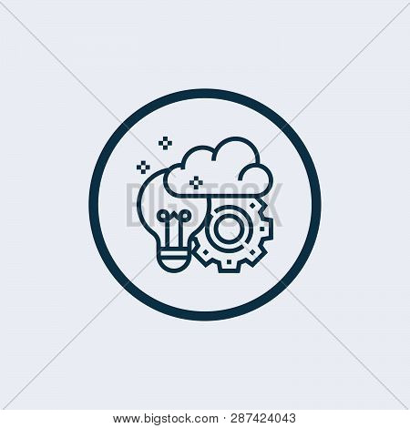 Brainstorm Icon Isolated On White Background. Brainstorm Icon Simple Sign. Brainstorm Icon Trendy An