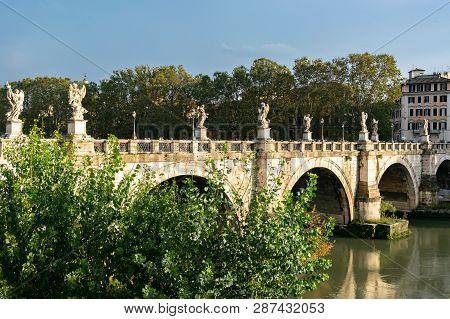 Ponte Santangelo (bridge Of Angels), Once The Aelian Bridge Or Pons Aelius, Meaning The Bridge Of Ha