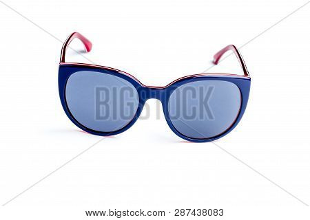 Stylish Womans Sunglasses Isolated Against A White Background