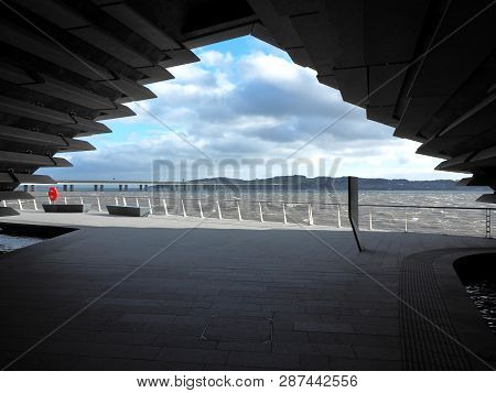 Frame With The Tay River.  Dundee, Scotland - February 18, 2019 A Conceptual View Of The Tay River F