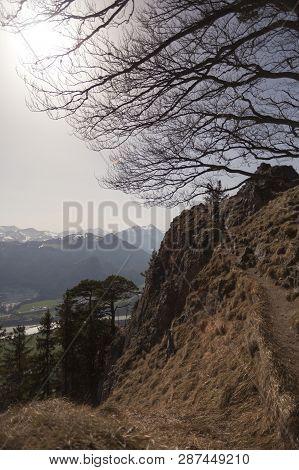 Mountain View From Mountain Heuberg, Bavaria, Springtime