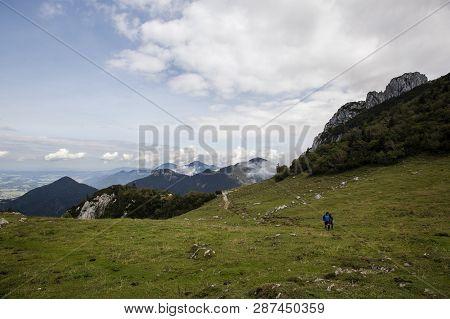 Panorama View Kampenwand, Mountain In Bavaria