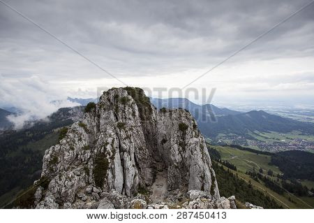 On Top Of Kampenwand, Mountain In Bavaria, Germany