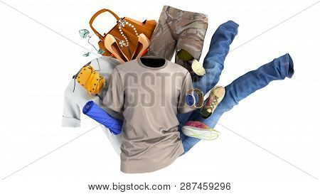 Concept Of Product Categories Clothing And Accessories On White Background
