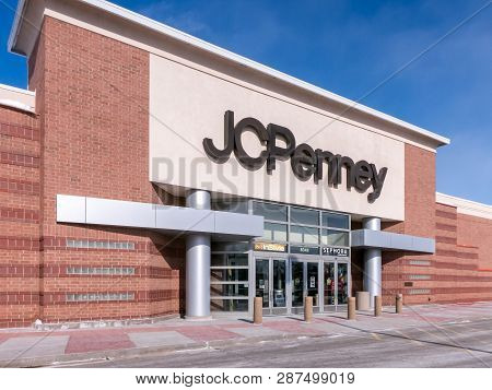 Jc Penney Retail Store Exterior And Trademark Logo