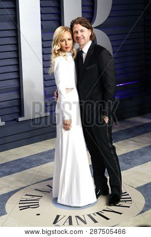 BEVERLY HILLS - FEB 24: Rachel Zoe, Roger Berman at the 2019 Vanity Fair Oscar Party at The Wallis Annenberg Center for the Performing Arts on February 24, 2019 in Beverly Hills, CA