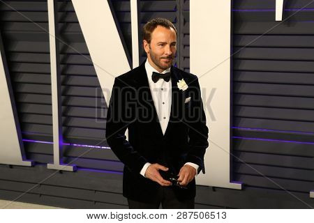 BEVERLY HILLS - FEB 24: Tom Ford at the 2019 Vanity Fair Oscar Party at The Wallis Annenberg Center for the Performing Arts on February 24, 2019 in Beverly Hills, CA