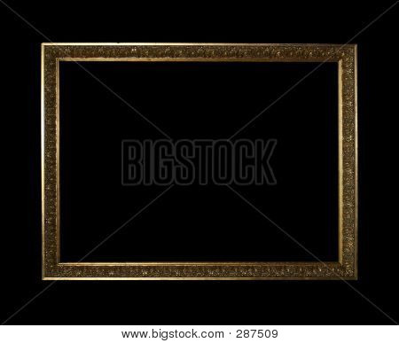 Golden Frame With Clipping Path