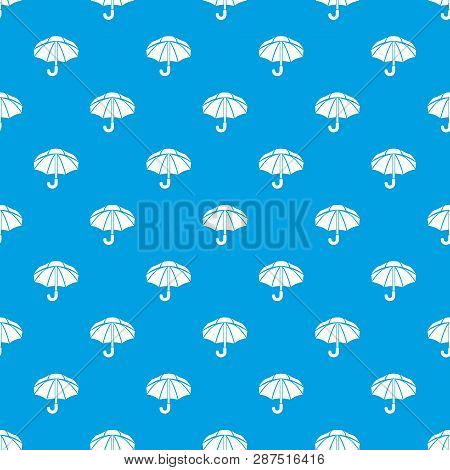Nylon Umbrella Pattern Vector Seamless Blue Repeat For Any Use