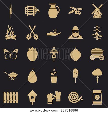 Mound Icons Set. Simple Set Of 25 Mound Icons For Web For Any Design