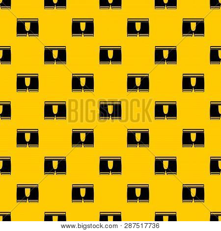 Man Boxer Briefs Pattern Seamless Vector Repeat Geometric Yellow For Any Design