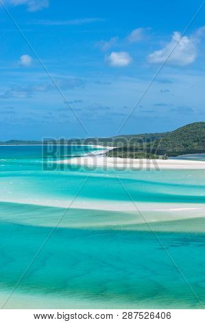 Whitsunday Islands Landscape. Popular Tourist Destination In Tropical Queensland, Australia. View Fr