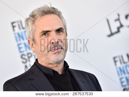 LOS ANGELES - FEB 23:  Alfonso Cuaron arrives for the 2019 Film Independent Spirit Awards on February 23, 2019 in Santa Monica, CA