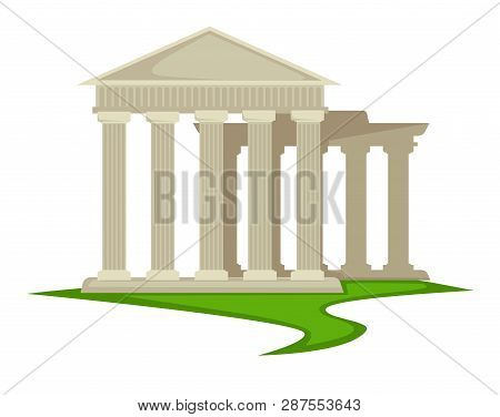 Ancient Greek Pillars Greece Architecture Attraction Or Landmark