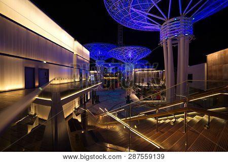 View Of Giant Mushrooms In Bluewaters Island, Dubai, Uae