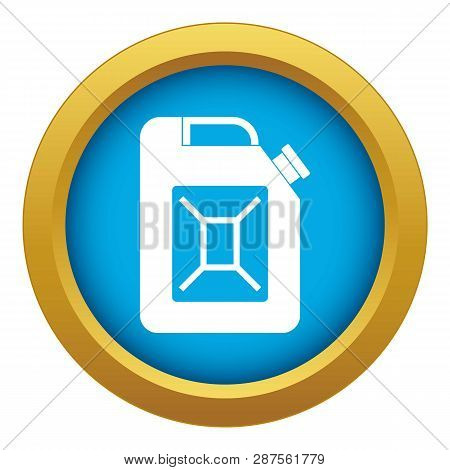 Jerrycan Icon Blue Vector Isolated On White Background For Any Design