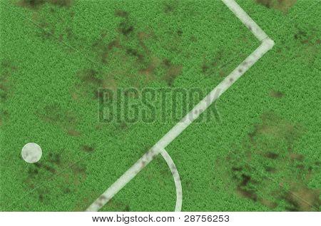 Part Of Soccer Football Field