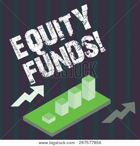 Handwriting text Equity Funds. Concept meaning Investors enjoys great benefits with long term investment. poster