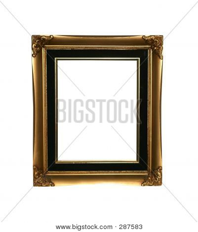 Golden Frame With Path