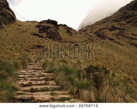Inca trail mountain pass