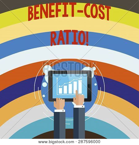 Conceptual Hand Writing Showing Benefit Cost Ratio. Business Photo Text Relationship Between The Cos