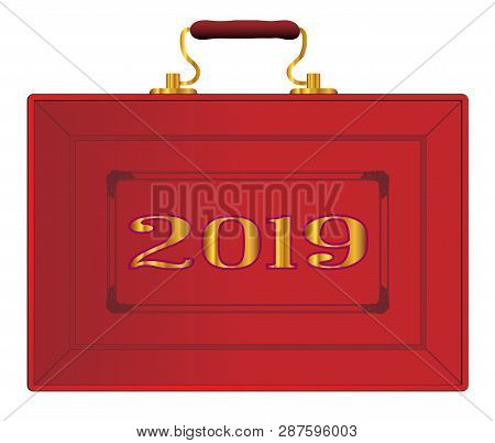 The Red Case As Displayed By The Uk Chancellor Of The Exchequer During A New 2019 Budget Ober A Whit