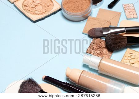Makeup Products For Creating The Perfect Skin Tone: Concealer, Primer, Liquid Foundation Fluid With