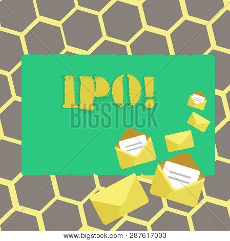 Text Sign Showing Ipo. Conceptual Photo Initial Public Offering First Time Stock Of Company Is Offer