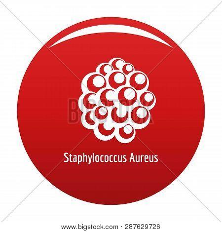 Staphylococcus Aureus Icon. Simple Illustration Of Staphylococcus Aureus Vector Icon For Any Design