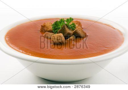 Tomato Soup On White Background