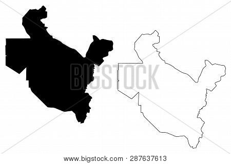 Saladin Governorate (republic Of Iraq, Governorates Of Iraq) Map Vector Illustration, Scribble Sketc