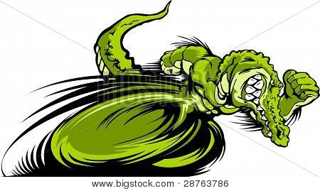 Racing Gator Or Croc Mascot Graphic Vector Image