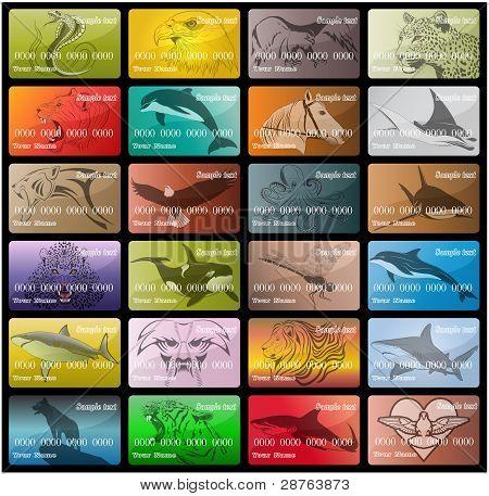 Big set of business cards