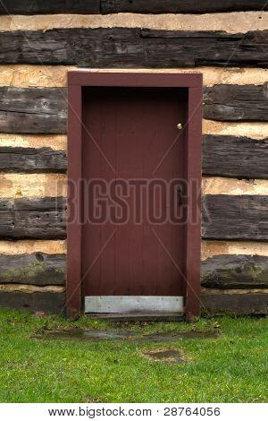 Red Cabin Door